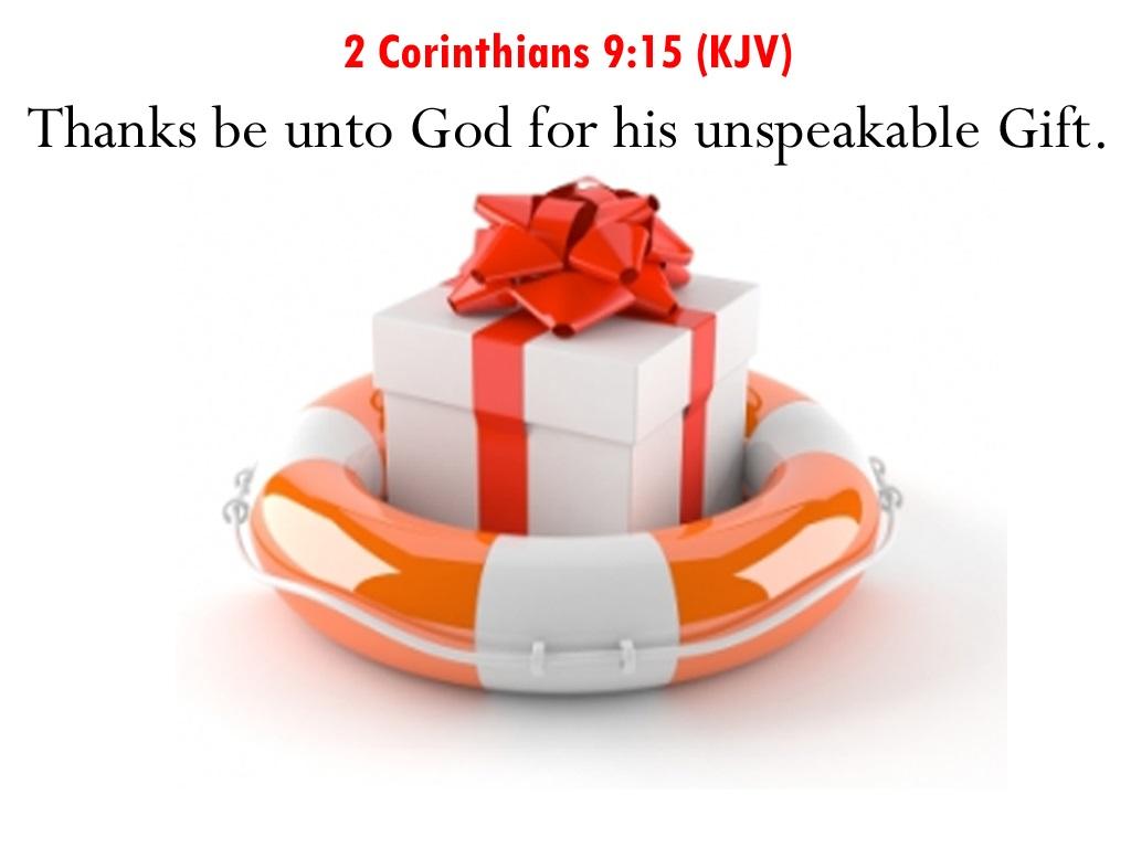 2 Corinthians 9.15